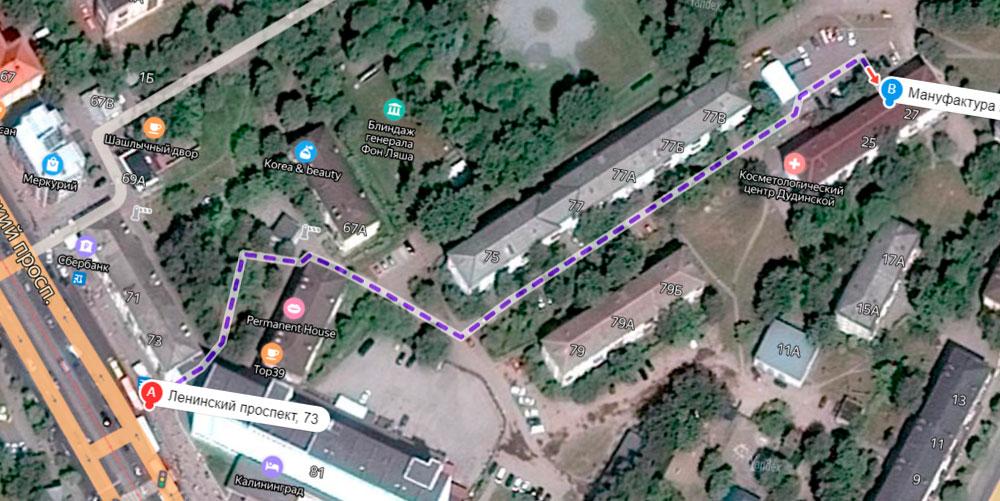 Схеме с Ленинского проспекта