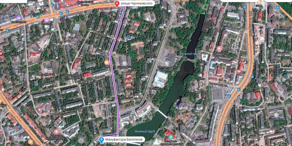 С улицы Черняховского